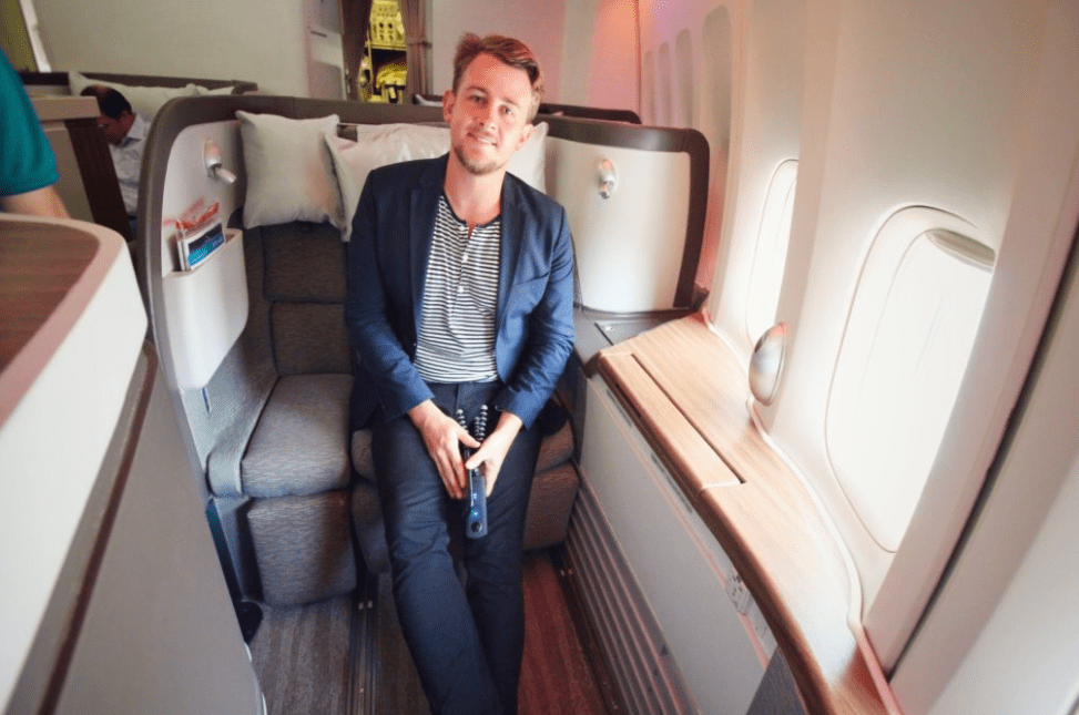 Business/First Class Seat Upgrade Challenge: Gilbert Ott Spotted at the airport