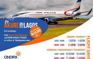 Why Air Peace Flight From Lagos To Akure Is No More 10k (Ten Thousand Naira)