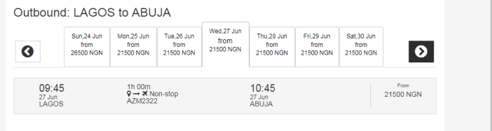 This Is The Cheapest Flight From Lagos To Abuja