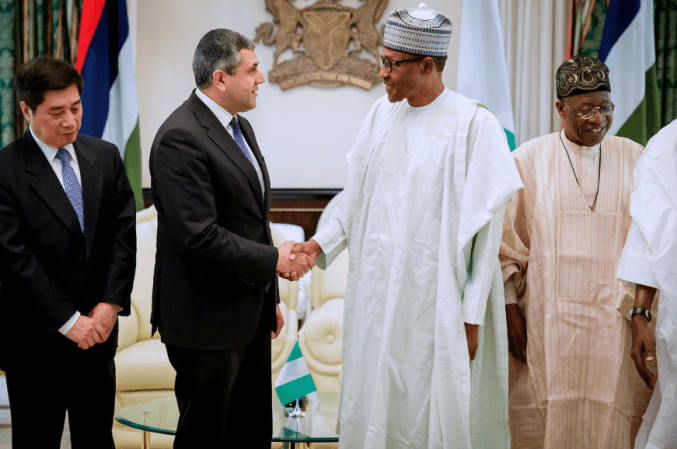 President Muhammadu Buhari Receives The United Nation World Tourism Organization General Secretary Mr Zurab Pololikashvili At The State House