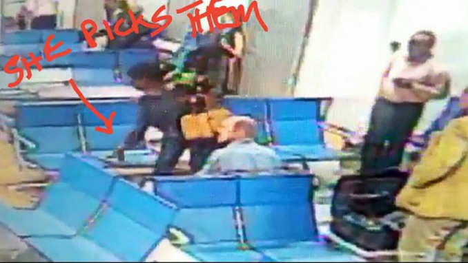 CCTV Caught A Lady Taking Another Passengers Passport At Abuja Airport