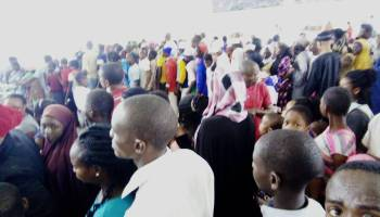 Free Train Ride: See Massive Crowd at Abuja Metro Station
