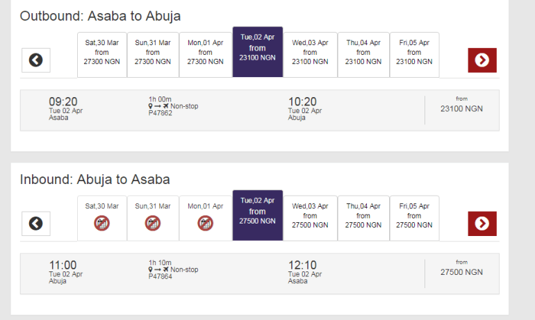 Cheap flights: These are the Airlines that go to Asaba