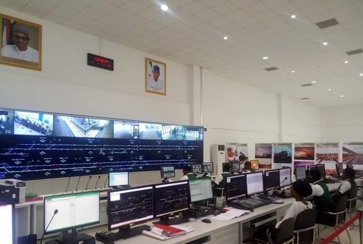 The Lagos - Ibadan Train Control Room