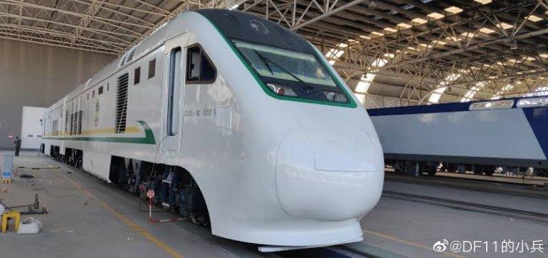 The Lagos - Ibadan train front view
