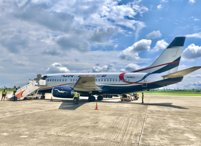Air Peace Flight at the Airport