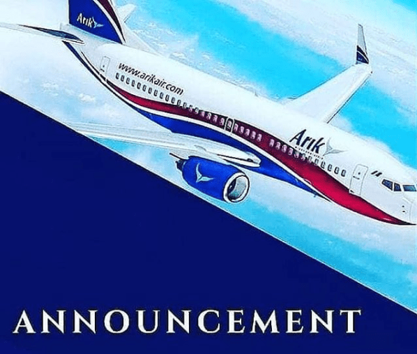 Arik Air Flight