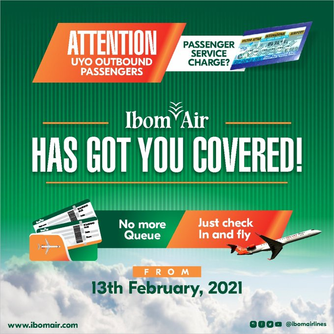 Ibom Air Stops Uyo Airport #1,500 Service Charge