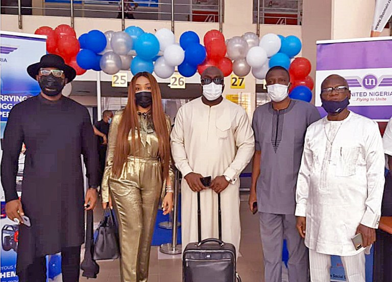 Photo: United Nigeria Airline Inaugural Flight