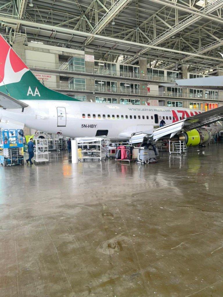 Azman Air Flights Undergo 'C' Checks in Turkey