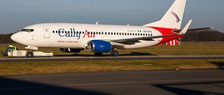 Cross River State Airline, Cally Air 1st Aircraft has landed