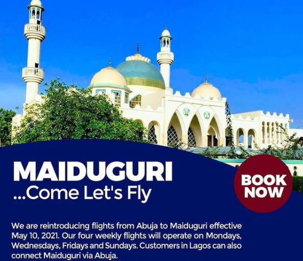 Arik Air Restarts Flights To Maiduguri from Lagos & Abuja