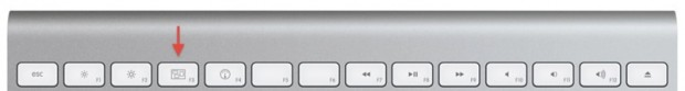 Tasti nuove tastiere Apple Wireless accesso ad Exposé