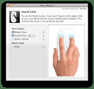 MouseWizard aggiunge funzioni al MagicMouse di Apple