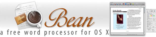 Bean un editor di testi gratuito per OsX