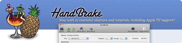 handbrake converte video in diversi formati