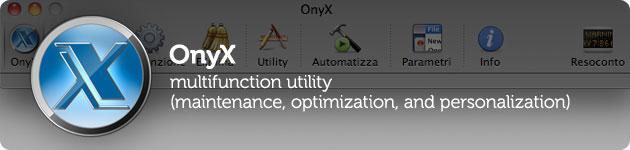 onyx operazioni di manutenzione del mac