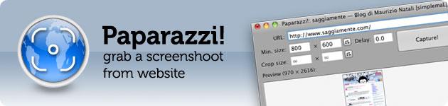paparazzi cattura una pagina web per intero