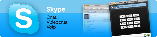 skype chat, videochat, voip per mac