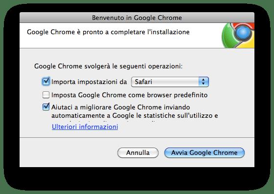 Google Chrome su Mac