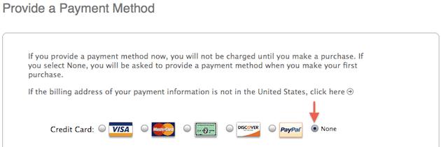 account itunes store usa senza carta di credito