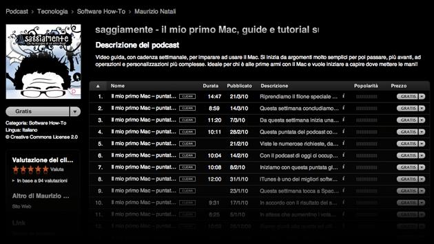 podcast manuale gratuito mac