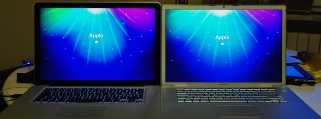 """confronto display vecchio e nuovo MacBook Pro 15"""""""