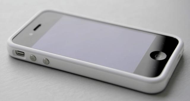 iphone 4 bumber bianco