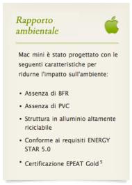 rapporto ambientale mac mini