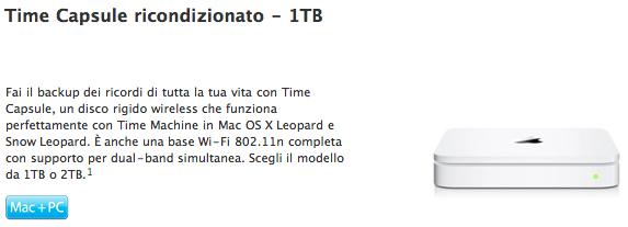 Time Capsule ricondizionato 1TB