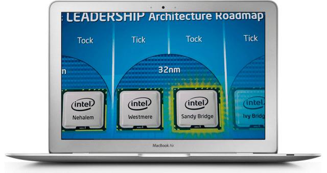Intel sforna nuovi processori Sandy Bridge per i MacBook Air
