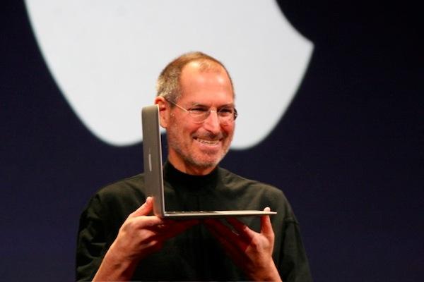 Steve Jobs with MacBook Air 2