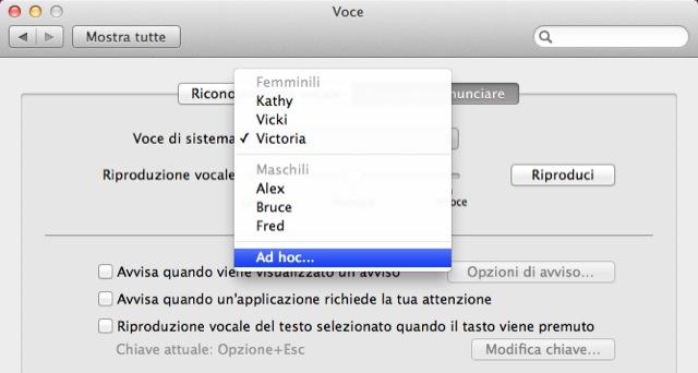 voci italiane