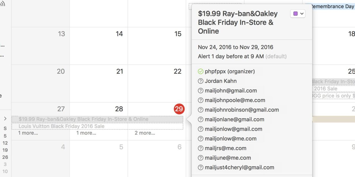 Apple creerĂ  una blacklist per limitare lo spam sui calendari iCloud