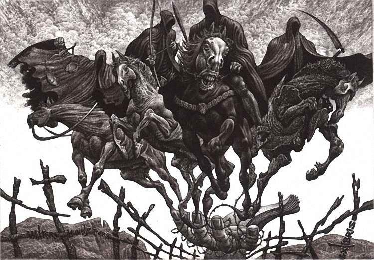 Risultato immagini per quattro cavalieri dell'apocalisse