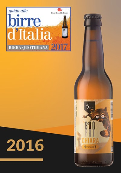 2016 The Sagrin Brewery featured in the Guide Birre d'Italia 2017
