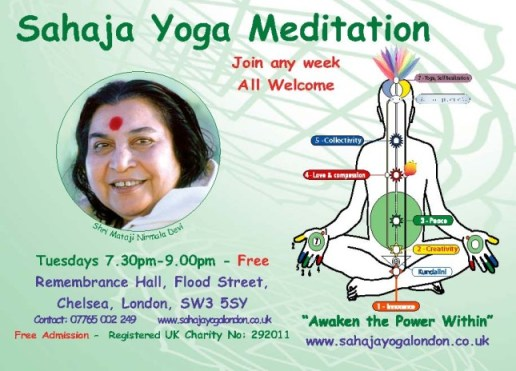 Achieve Yoga & Learn to Meditate - 7.30pm Tuesdays - in Chelsea