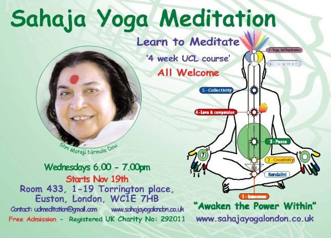 UCL Meditation Course Nov 2014