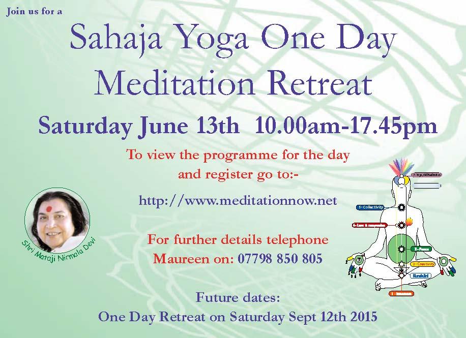 Meditation Retreat – June 13th