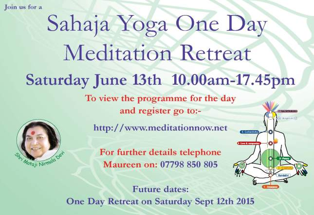 Retreat June 13th & Sept 12th  2015