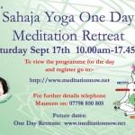 Meditation & Yoga Retreat – Sept 17th 2016