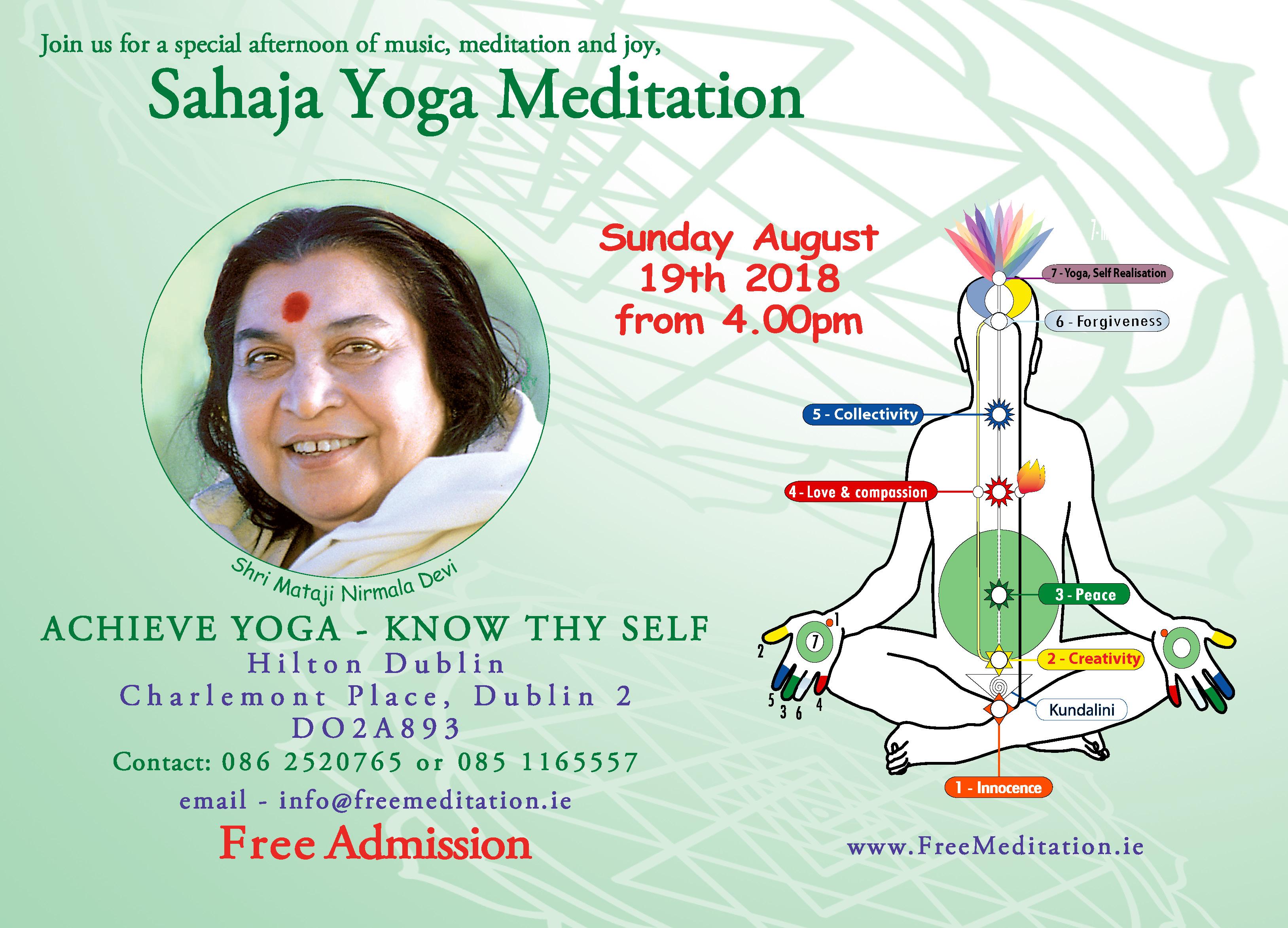Free Music & Meditation – Achieve Yoga in Dublin