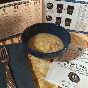 Wise Creamy Pasta Sahalee Off Grid