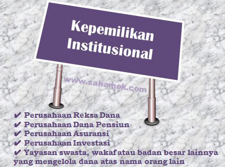 Pengertian kepemilikan institusional