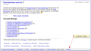 Demo: Google Reader mit Preview-Funktion