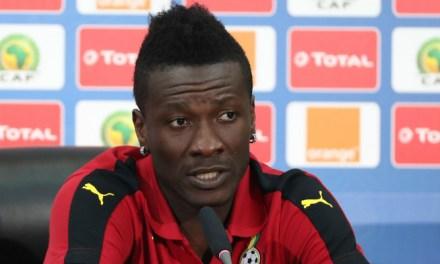 Asamoah Gyan doubtful for the quarter-final clash