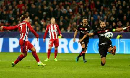Atletico Madrid hold two-goal edge after first leg at Bayer Leverkusen