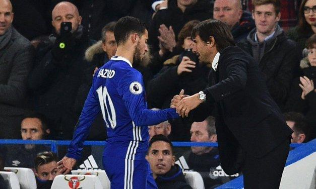 Antonio Conte: Chelsea boss says Eden Hazard was targeted by Man Utd