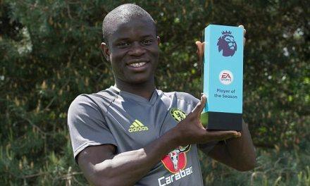 N'golo Kante Wins Player Of The Season Award