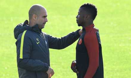 "Pep Guardiola says it was an ""honour"" to work with Kelechi Iheanacho as striker closes in on £25m Leicester switch"